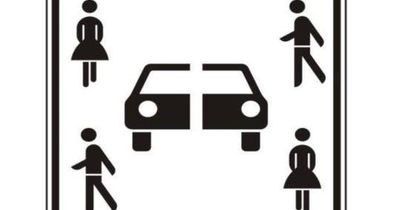 Weißt du, was dieses Verkehrsschild bedeuten soll?