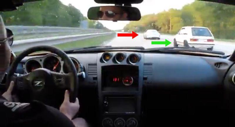 Golf 1 verraucht Porsche 911!